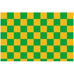 OR-44-033-040-010 Oracover - Fun 4 (12,5mm Square Cadm. Yellow + Green ( Length : Roll 10m , Width : 60cm )