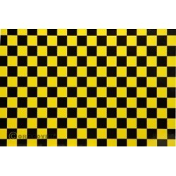 OR-44-036-071-002 Oracover - Fun 4 (12,5mm Square) Pearl Yellow + Black ( Length : Roll 2m , Width : 60cm )