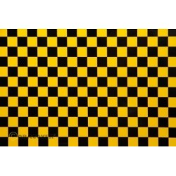 OR-44-037-071-010 Oracover - Fun 4 (12,5mm Square) Pearl Gold Yellow + Black ( Length : Roll 10m , Width : 60cm )