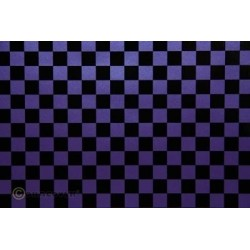 OR-44-056-071-010 Oracover - Fun 4 (12,5mm Square) Pearl Purple + Black ( Length : Roll 10m , Width : 60cm )