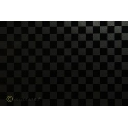 OR-44-077-071-010 Oracover - Fun 4 (12,5mm Square) Pearl Charcoal + Black ( Length : Roll 10m , Width : 60cm )