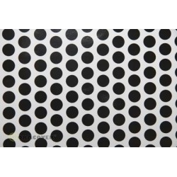 OR-45-010-071-010 Oracover - Orastick - Fun 1 (16mm Dots) White + Black ( Length : Roll 10m , Width : 60cm )
