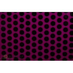 OR-45-015-071-010 Oracover - Orastick - Fun 1 (16mm Dots) Fluorescent Violet + Black ( Length : Roll 10m , Width : 60cm )