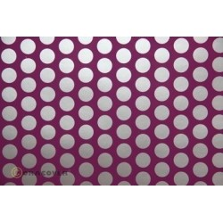 OR-45-054-091-010 Oracover - Orastick - Fun 1 (16mm Dots) Violet + Silver ( Length : Roll 10m , Width : 60cm )