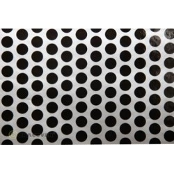 OR-45-091-071-010 Oracover - Orastick - Fun 1 (16mm Dots) Silver + Black ( Length : Roll 10m , Width : 60cm )