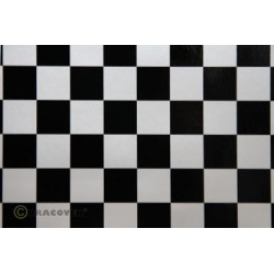 OR-47-016-071-010 Oracover - Orastick - Fun 3 (25mm Square) Pearl White + Black ( Length : Roll 10m , Width : 60cm )