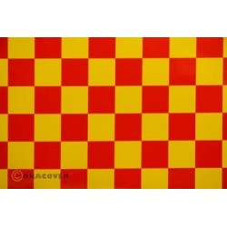 OR-47-033-023-010 Oracover - Orastick - Fun 3 (25mm Square) Yellow + Red ( Length : Roll 10m , Width : 60cm )