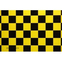 OR-47-036-071-002 Oracover - Orastick - Fun 3 (25mm Square) Pearl Yellow + Black ( Length : Roll 2m , Width : 60cm )