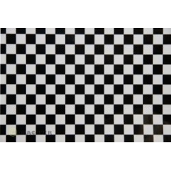 OR-48-010-071-010 Oracover - Orastick - Fun 4 (12,5mm Square) White + Black ( Length : Roll 10m , Width : 60cm )