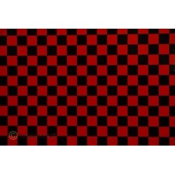 OR-48-023-071-010 Oracover - Orastick - Fun 4 (12,5mm Square) Red + Black ( Length : Roll 10m , Width : 60cm )