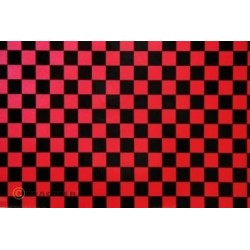 OR-48-027-071-010 Oracover - Orastick - Fun 4 (12,5mm Square) Pearl Red + Black ( Length : Roll 10m , Width : 60cm )