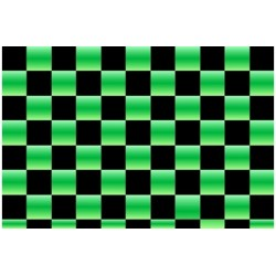OR-48-048-071-010 Oracover - Orastick - Fun 4 (12,5mm Square) Pearl Green + Black ( Length : Roll 10m , Width : 60cm )