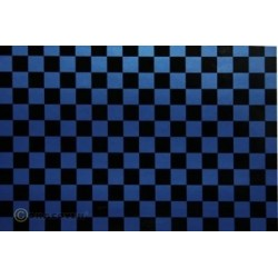 OR-48-057-071-010 Oracover - Orastick - Fun 4 (12,5mm Square) Pearl Blue + Black ( Length : Roll 10m , Width : 60cm )