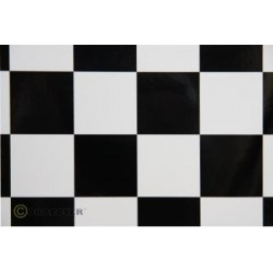 OR-491-010-071-010 Oracover - Fun 5 (52mm Square) White - Black ( Length : Roll 10m , Width : 60cm )