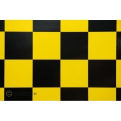 OR-491-033-071-010 Oracover - Fun 5 (52mm Square) Yellow - Black ( Length : Roll 10m , Width : 60cm )