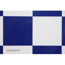 OR-691-010-052-010 Oracover - Fun 6 (104mm Square) White - Dark Blue ( Length : Roll 10m , Width : 60cm )
