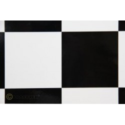 OR-691-010-071-010 Oracover - Fun 6 (104mm Square) White - Black ( Length : Roll 10m , Width : 60cm )
