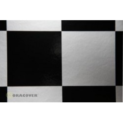 OR-691-091-071-010 Oracover - Fun 6 (104mm Square) Silver - Black ( Length : Roll 10m , Width : 60cm )