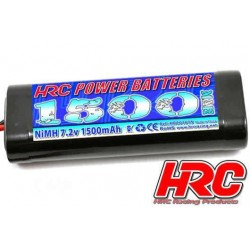 HRC01615S Accu - 6 Eléments - HRC Power Batteries 1500 - NiMH - 7.2V 1500mAh - Stick - Prise Tamiya