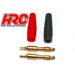 HRC9004BN Connecteur - 4.0mm - Banane mâle (2 pces)