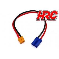 HRC9608 Câble de charge - doré - Prise chargeur XT60 à EC5