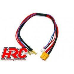 HRC9657 Câble de charge - TSW Pro Racing - Prise chargeur XT60 à prise 4mm & Balancer JST pour accu Hardcase – 50cm