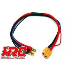 HRC9659 Câble de charge - TSW Pro Racing - Prise chargeur XT60 à prise 5mm & Balancer JST pour accu Hardcase