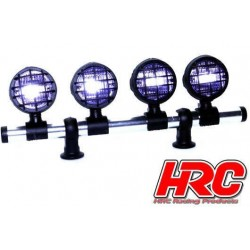 HRC8729C Set d'éclairage - 1/10 ou Monster Truck - LED - Prise JR - Barre de toit - Type C Long