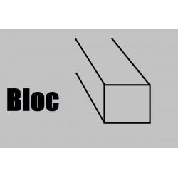 BB60 Bloc BALSA 1000 x 60 x 60 mm