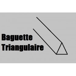 LBT66 BALSA Triangulaire 1000 x 6 x 6mm
