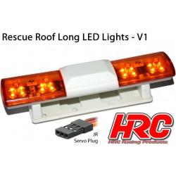 HRC8731O Set d'éclairage - 1/10 TC/Drift - LED - Prise JR - Barre de toit Secours V1 - 6 modes de clignotement (Orange / Orange)