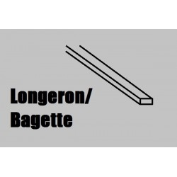 AMA246004 Longeron NOYER 1 x 2 mm