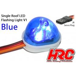HRC8736B Set d'éclairage - 1/10 TC/Drift - LED - Prise JR - Gyrophare de toit V1 – Bleu