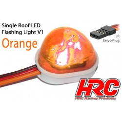 HRC8736O Set d'éclairage - 1/10 TC/Drift - LED - Prise JR - Gyrophare de toit V1 – Orange