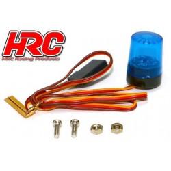 HRC8737B5 Set d'éclairage - 1/10 TC- LED - Prise JR - Gyrophare de toit V5 – Bleu
