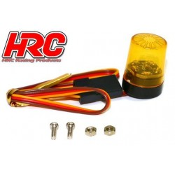 HRC8737O5 Set d'éclairage - 1/10 TC- LED - Prise JR - Gyrophare de toit V5 – Orange