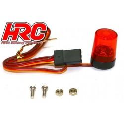 HRC8737R5 Set d'éclairage - 1/10 TC- LED - Prise JR - Gyrophare de toit V5 – Rouge