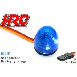 HRC8738LB Set d'éclairage - 1/10 TC/Drift - LED - Prise JR - Gyrophare de toit V4 (13x17mm) – Bleu