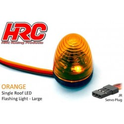 HRC8738LO Set d'éclairage - 1/10 TC/Drift - LED - Prise JR - Gyrophare de toit V4 (13x17mm) – Orange