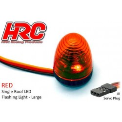 HRC8738LR Set d'éclairage - 1/10 TC/Drift - LED - Prise JR - Gyrophare de toit V4 (13x17mm) – Rouge