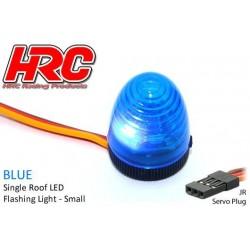 HRC8738SB Set d'éclairage - 1/10 TC/Drift - LED - Prise JR - Gyrophare de toit V3 (10x15mm) – Bleu