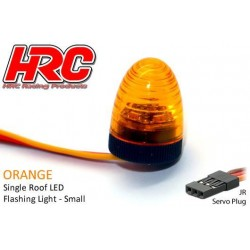 HRC8738SO Set d'éclairage - 1/10 TC/Drift - LED - Prise JR - Gyrophare de toit V3 (10x15mm) – Orange