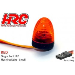 HRC8738SR Set d'éclairage - 1/10 TC/Drift - LED - Prise JR - Gyrophare de toit V3 (10x15mm) – Rouge