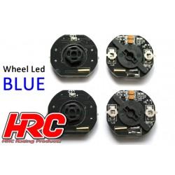 HRC8741B Set d'éclairage - 1/10 TC/Drift - LED – éclairage de roue - 12mm Hex - Bleu (4 pces)