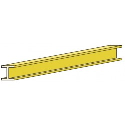 PROH1515 Profilé H 1000 x 1.5 x 1.5 mm