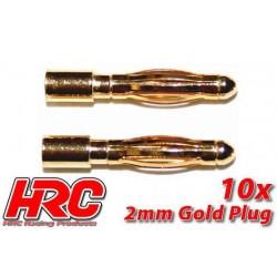 HRC9002M Connecteur - Gold - 2.0mm – mâle (10 pces)