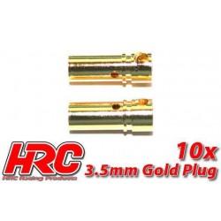 HRC9003F Connecteur - Gold - 3.5mm - femelle (10 pces)