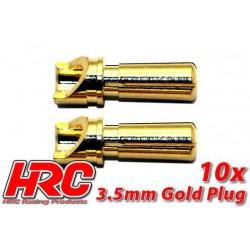 HRC9003M Connecteur - Gold - 3.5mm – mâle (10 pces)