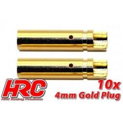 HRC9004F Connecteur - Gold - 4.0mm - femelle (10 pces)