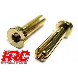 HRC9004L Connecteur - Gold - TSW Pro Racing - 4.0mm – mâle Low Profile (2 pces)